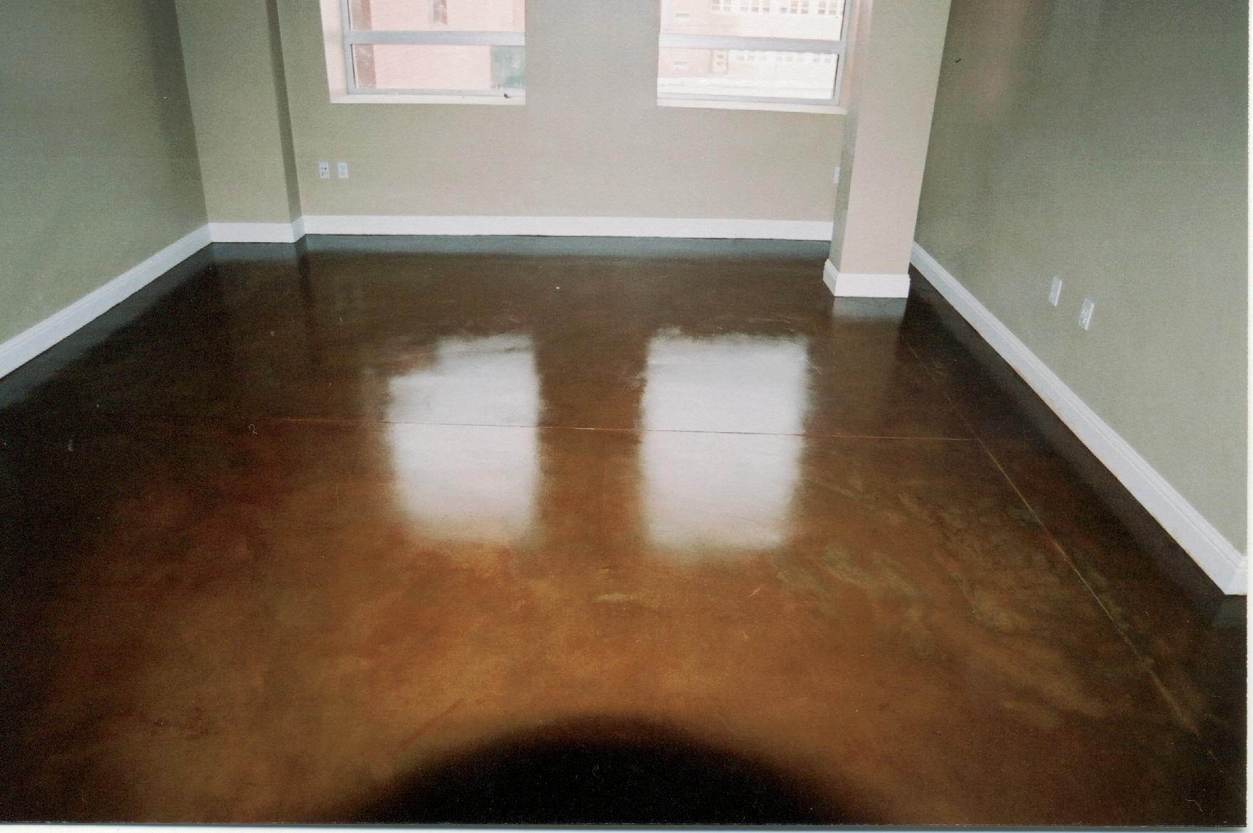 Stained concrete floors front range decorative concrete for Colored concrete floors