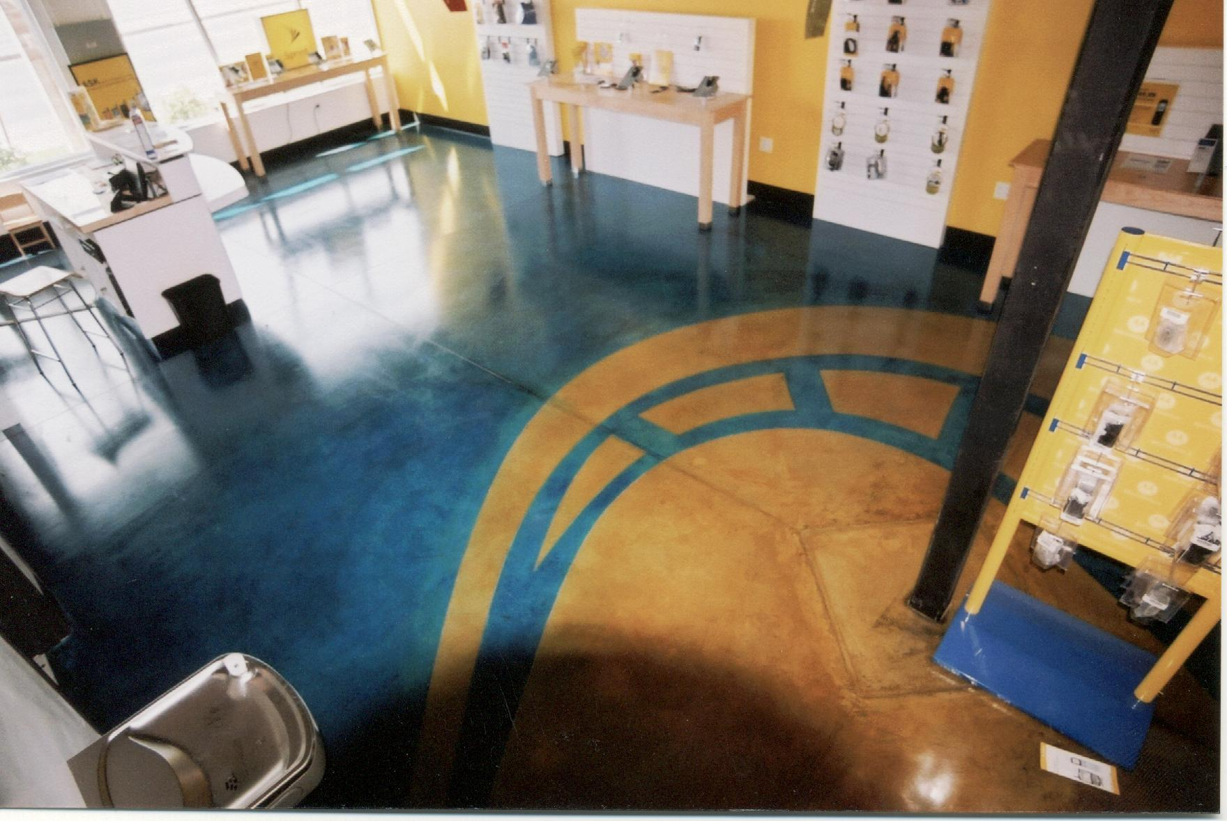 Stained concrete floors front range decorative concrete for How to care for stained concrete floors