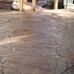 decorative stamped conrete patio