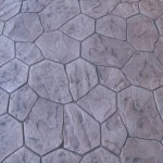decorative stamped stain concrete